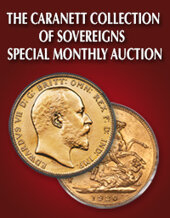 Catalog cover for 2020 May 17 The Caranett Collection of Sovereigns - #1 PCGS Registry Sets World Coins Special Monthly Online Auction