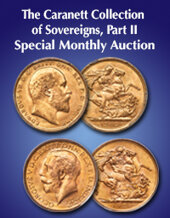 Catalog cover for 2020 July 12 The Caranett Collection of Sovereigns, Part II World Coins Special Monthly Online Auction