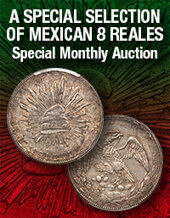 Catalog cover for 2020 August 30 A Special Selection of Mexican 8 Reales Special Monthly Online Auction