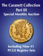 Catalog cover for 2020 October 11 The Caranett Collection Part III - Gold Coins of Western Europe & Britain - Including Nine #1 PCGS Registry Sets World Coins Special Monthly Online Auction