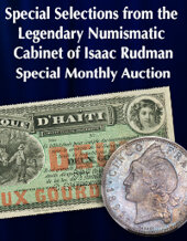 Catalog cover for 2020 November 29 Special Selections from the Legendary Numismatic Cabinet of Isaac Rudman World Coins Special Monthly Online Auction