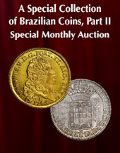 Catalog cover for 2020 December 6 A Special Collection of Brazilian Coins, Part II Special Monthly Online Auction