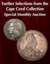 Catalog cover for 2021 January 24 Further Selections from Cape Coral Collection World Coins Special Monthly Online Auction