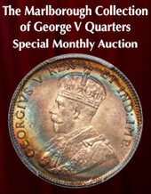 Catalog cover for 2021 April 25 The Marlborough Collection of George V Quarters Special Monthly Online Auction