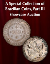 Catalog cover for 2021 August 1 A Special Selection of Brazilian Coins, Part III Showcase Auction