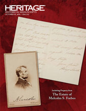 Catalog cover for 2016 October 19 Historical Manuscripts Grand Format Auction - Dallas