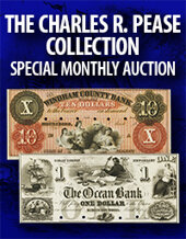 Catalog cover for 2020 October 25 The Charles R. Pease Collection Special Currency Online Auction