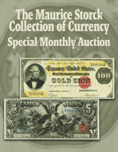 Catalog cover for 2020 October 18 The Maurice Storck Collection of Currency Special Monthly Online Auction Currency Online Auction