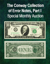 Catalog cover for 2020 December 30 The Conway Collection of Error Notes, Part I Currency Online Auction