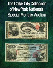 Catalog cover for 2021 February 21 The Collar City Collection of New York Nationals Special Online Currency Auction