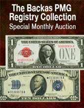 Catalog cover for 2021 May 16 The Backas PMG Registry Collection Currency Special Online Auction