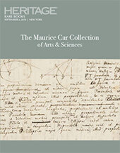 Catalog cover for The Maurice Car Collection of Arts and Sciences Featuring Rare Books & Manuscripts