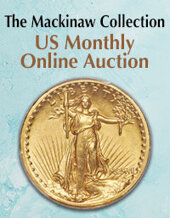 Catalog cover for 2020 March 8 The Mackinaw Collection US Coins Month-Long Online Auction