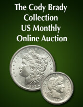 Catalog cover for 2020 March 15 The Cody Brady Collection US Coins Month-Long Online Auction