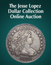 Catalog cover for 2020 April 15 The Jesse Lopez Dollar Collection US Coins Month-Long Online Auction