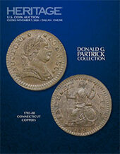 Catalog cover for 2020 November 1 The Donald G. Partrick Collection of Connecticut Coppers US Coins Special Monthly Auction