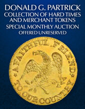 Catalog cover for 2020 December 6 The Donald G. Partrick Collection of Hard Times and Merchant Tokens US Coins Special Monthly Auction