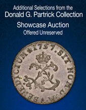 Catalog cover for 2021 June 27 Additional Selections from the Donald G. Partrick Collection US Coins Showcase Auction