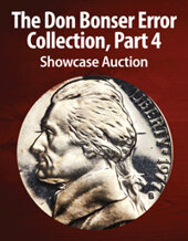 Catalog cover for 2021 August 26 Don Bonser Error Collection, Part 4 US Coins Showcase Auction