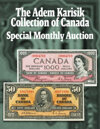 2020 August 31 The Adem Karisik Collection of Canada World Paper Money Online Auction