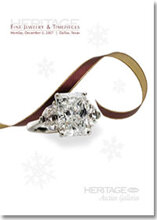 Catalog cover for 2007 December Signature Jewelry & Timepieces Auction