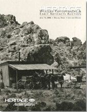 Catalog cover for JUNE 2008 Signature Western Photography & Early Artifacts Auction