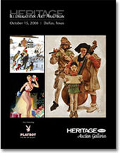 Catalog cover for 2008 October Signature Illustration Art Auction