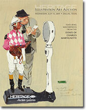 Catalog cover for 2009 July Signature Illustration Art Auction