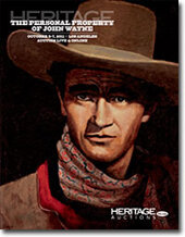 Catalog cover for 2011 October The Personal Property of John Wayne Signature Auction