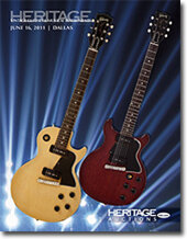 Catalog cover for 2011 June Dallas Signature Vintage Guitar and Musical Instrument Auction