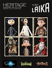 Catalog cover for 2015 February 12 The Art of Laika Studios Animation Art  Including Coraline, ParaNorman, and The Boxtrolls Signature Auction - Beverly Hills