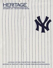 Catalog cover for 2017 December 10 Yankee Legends Collection Sports - Dallas