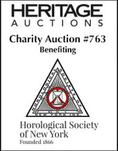 Catalog cover for The Horological Society of New York Benefit Auction