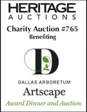 Catalog cover for Artscape Charity Auction #765 Benefitting the Dallas Arboretum