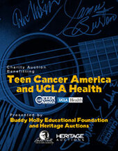 Catalog cover for Teen Cancer America & UCLA Health Benefit Auction
