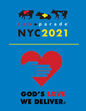 Catalog cover for CowParade NYC 2021 benefitting God's Love We Deliver