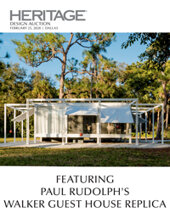 Catalog cover for 2020 February 25 Design, Including Paul Rudolph's Walker Guest House Replica Signature Auction - Dallas