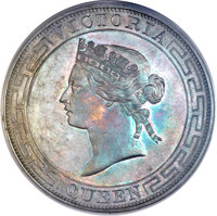 Hong Kong: Victoria Proof Dollar 1866