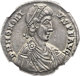 Ancients: Honorius, Western Roman Emperor (AD 393-423). AR medallion of 6 siliquae (35mm, 13.42 gm, 6h)