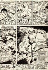 Herb Trimpe and Jack Abel The Incredible Hulk #180 Final Page 32: The First-Ever Appearance of Wolverine Original Art (Marvel, 1974)