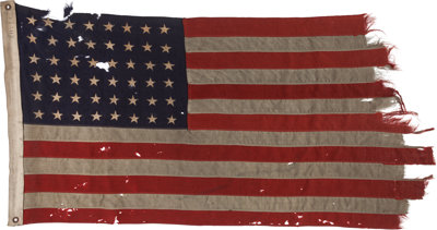 The 48 Star Flag that Led the First Americans to Utah Beach on D-Day, June 6, 1944 Heritage Auctions