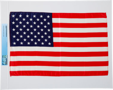 Apollo 11 Flown largest size American flag Neil Armstrong auction