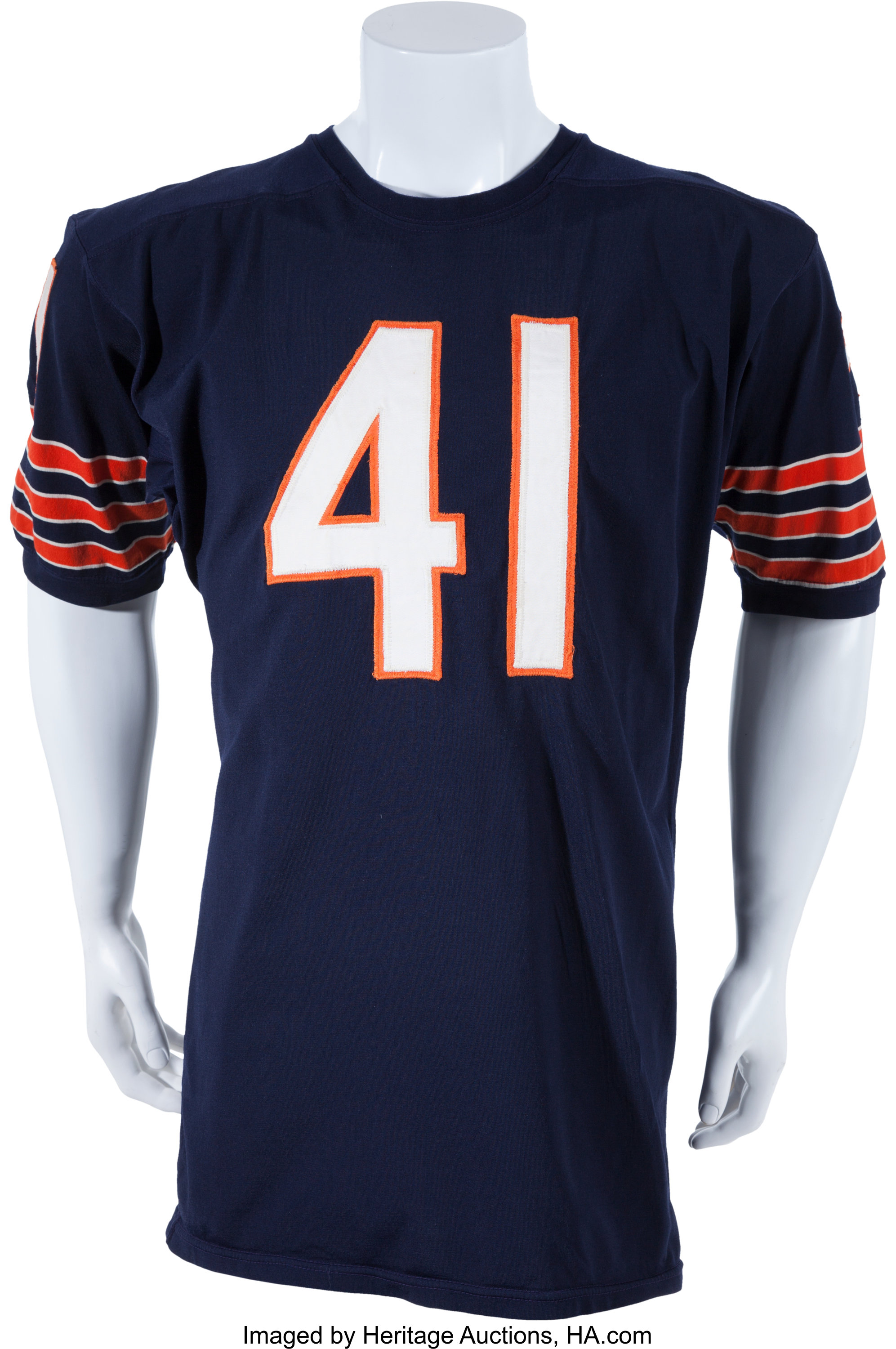 1966-68 Brian Piccolo Game Worn Chicago Bears Jersey, MEARS A10 ...