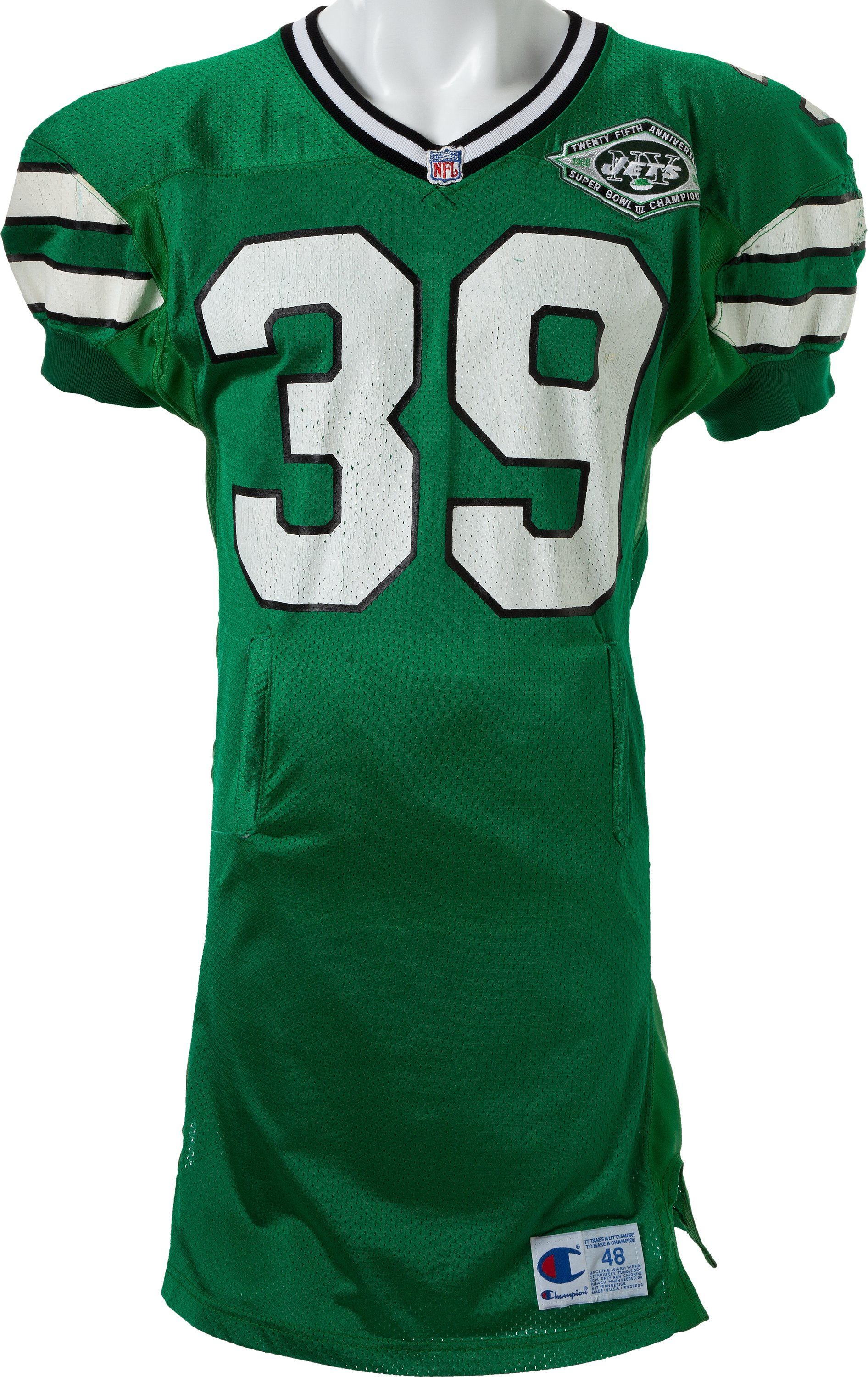 1993 Johnny Johnson Game Worn New York Jets Jersey. Football