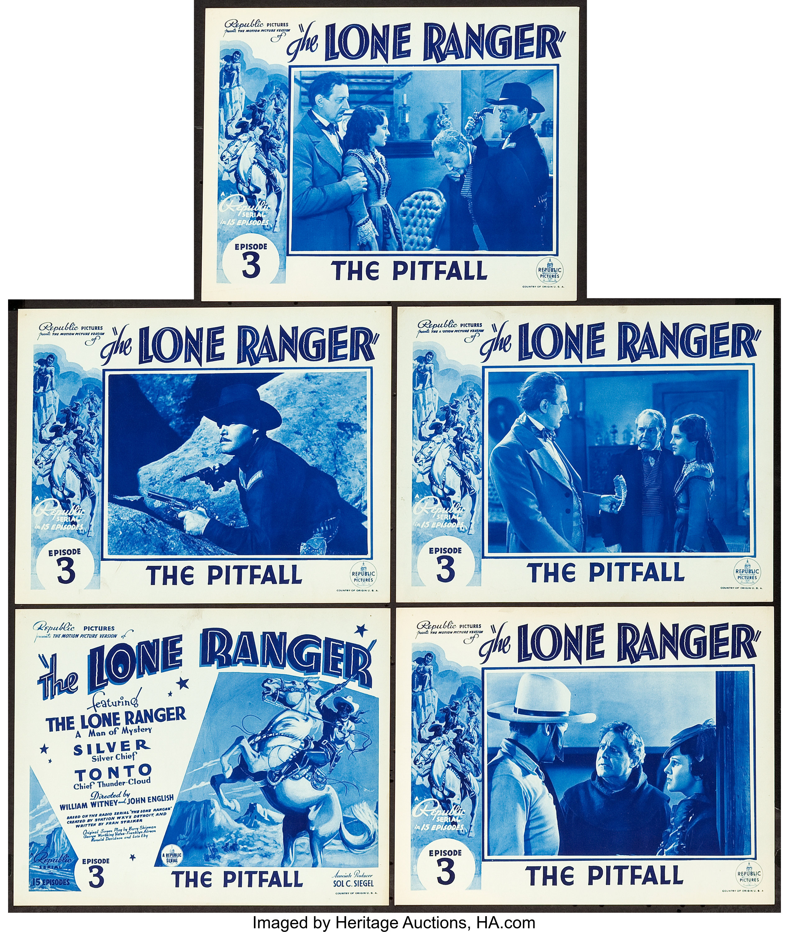 The Lone Ranger (Republic, 1938). Title Lobby Card and Lobby