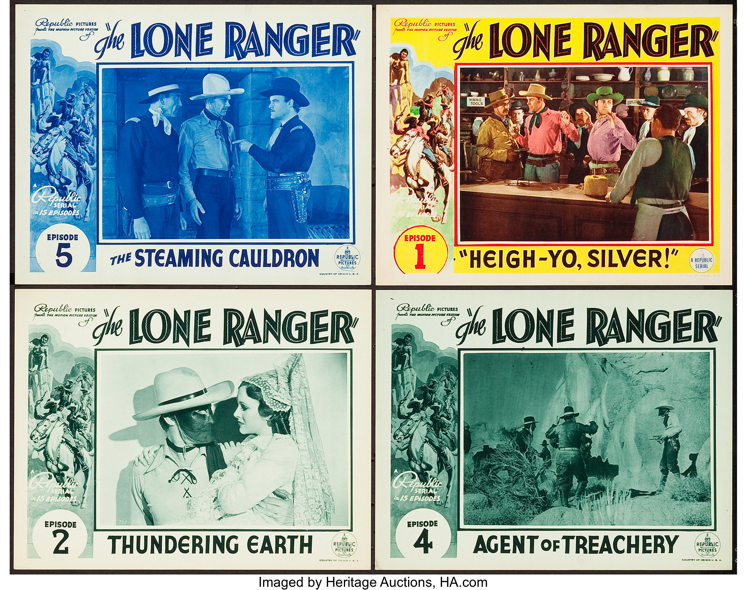 The Lone Ranger (Republic, 1938). Lobby Cards (4) (11