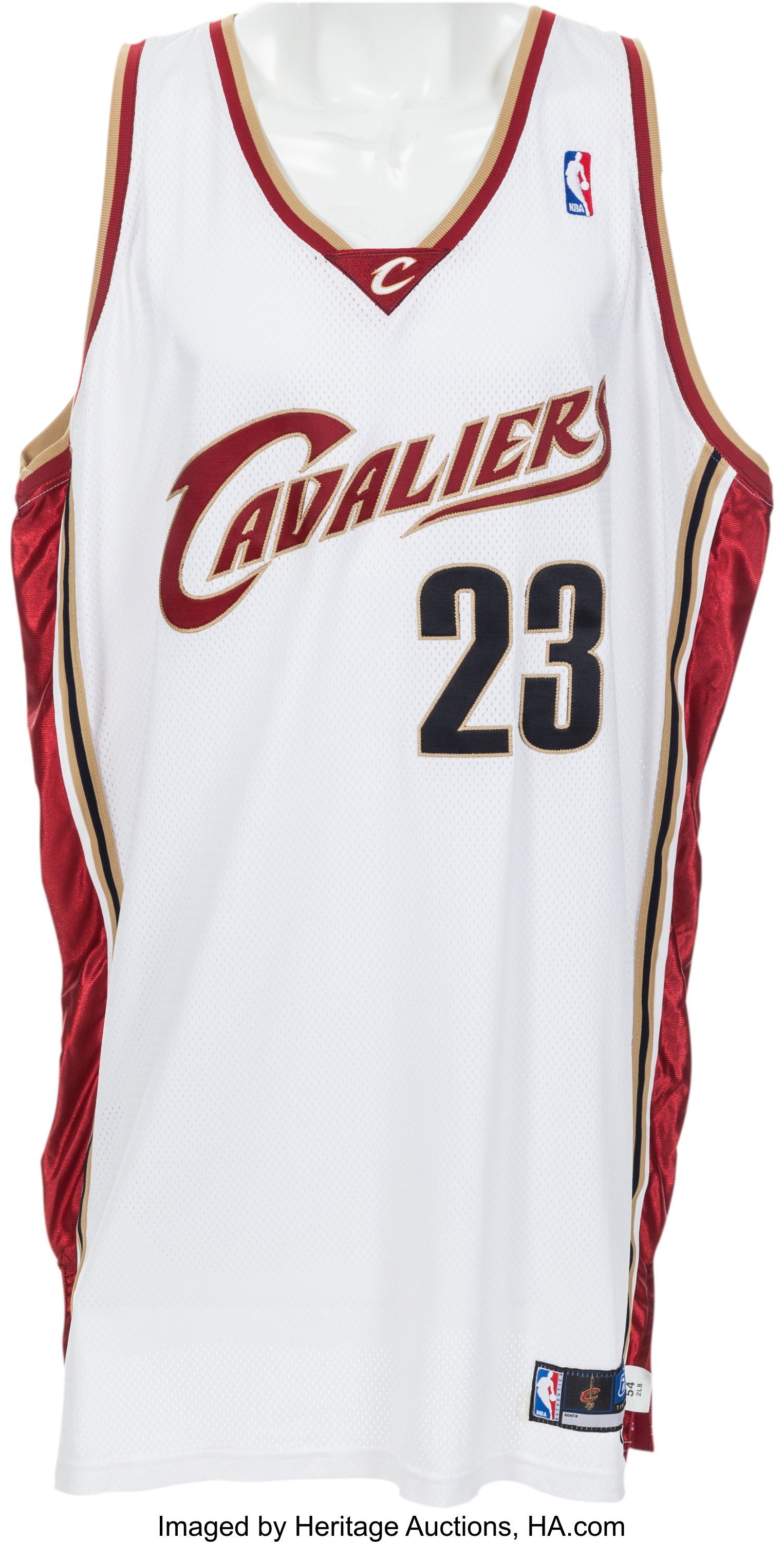 2003-04 LeBron James Game Worn Cleveland Cavaliers Rookie | Lot ...