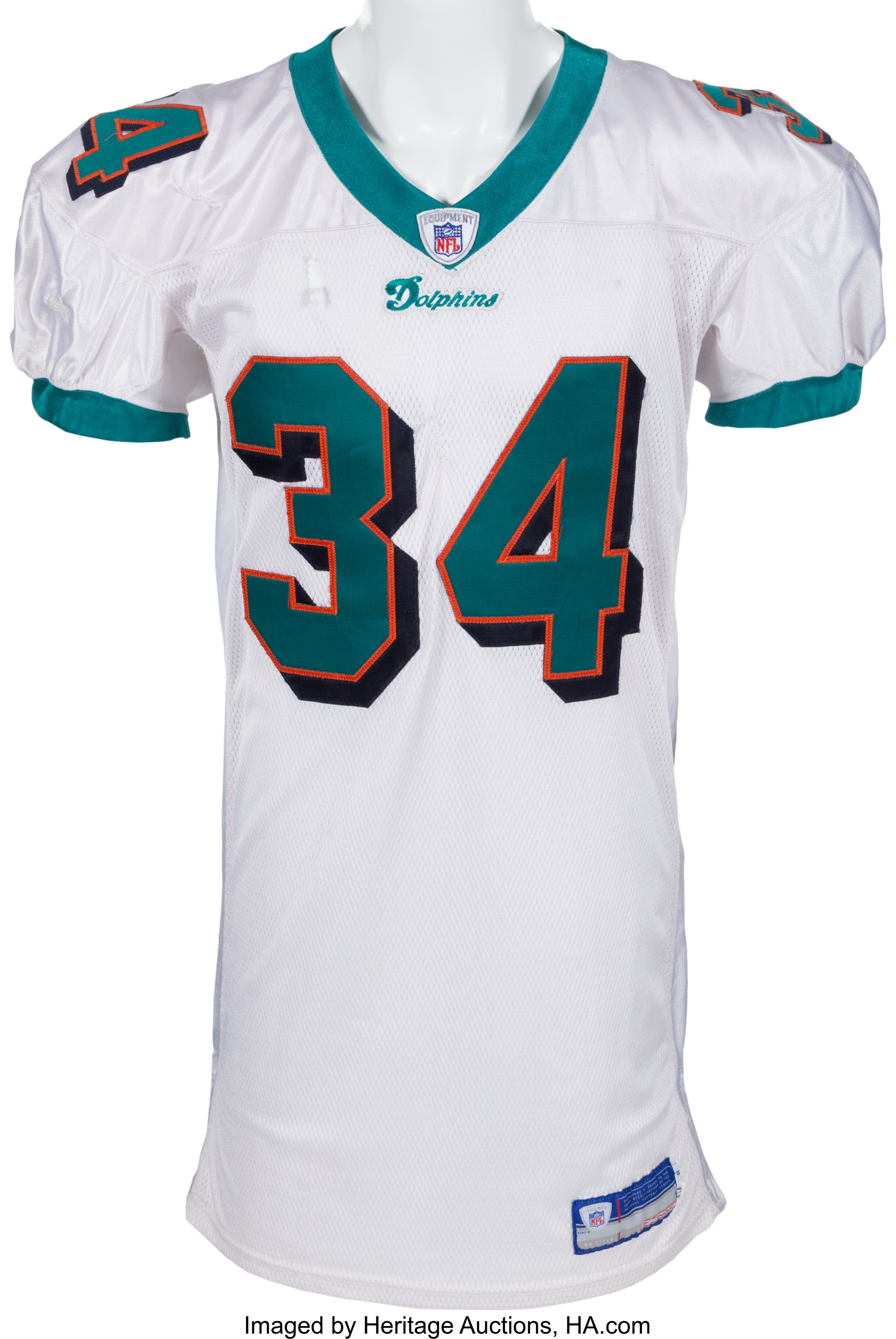 2003 Ricky Williams Game Worn Miami Dolphins Jersey. ... Football ...