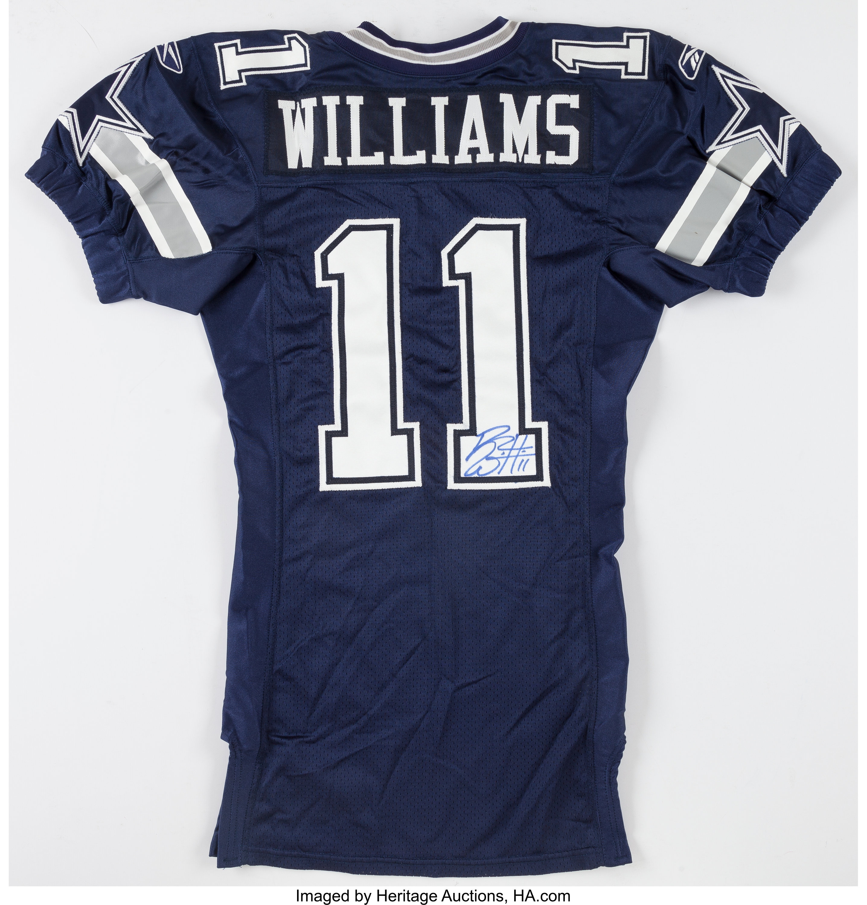 Roy Williams Signed, Game Issued Dallas Cowboys Jersey ...