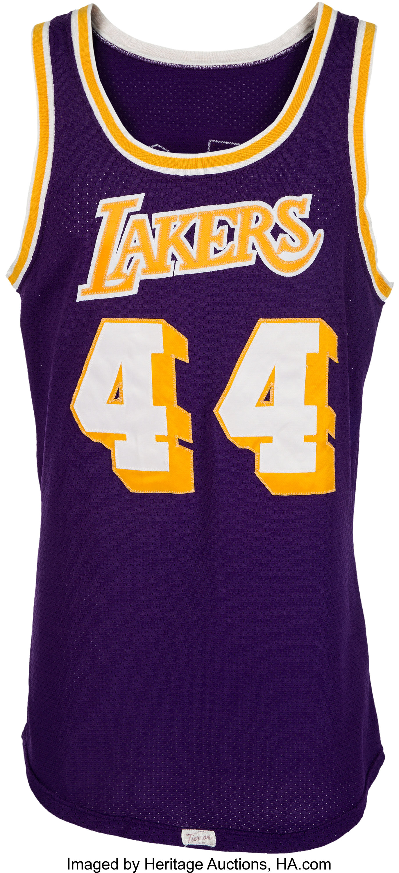 1973-74 Jerry West Game Worn Los Angeles Lakers Jersey, MEARS ...